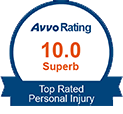 avvo rating | 10.0 Superb | Top Rated | Personal Injury